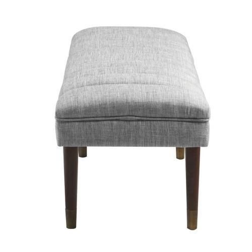 Mid-century Modern Grey Upholstered Bench