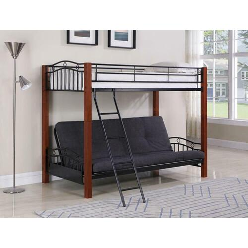 See Details - Collins Collection Cinnamon and Black Transitional Bunk Bed