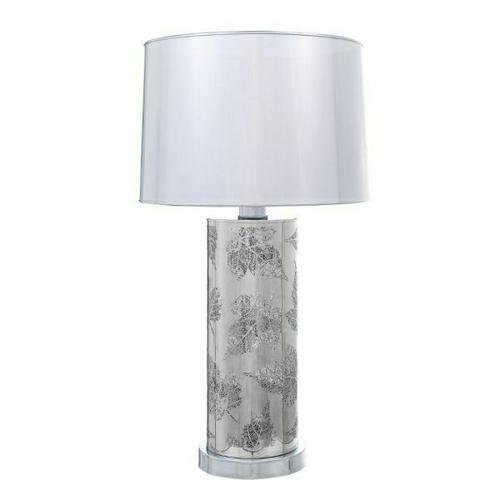 ACME Nordin Table Lamp - 40361 - Glam - Light, Metal, Shade (PVC) - Chrome