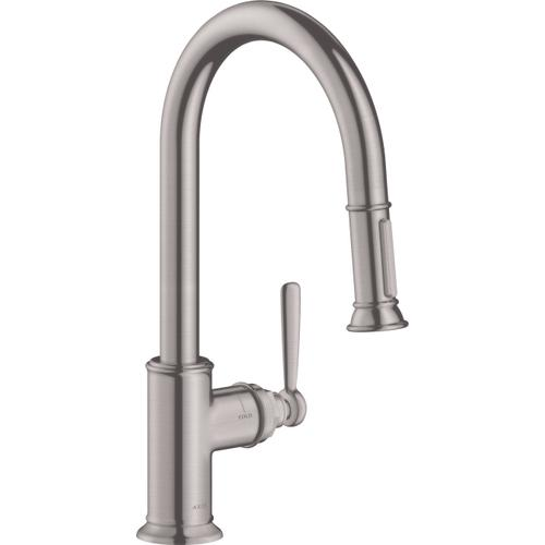 Steel Optic HighArc Kitchen Faucet 2-Spray Pull-Down, 1.75 GPM