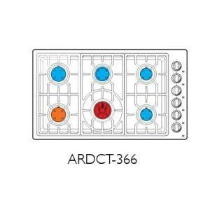 "American Range ARDCT366N  Vitesse Sealed-burner Cooktops 36"" Natural Gas"