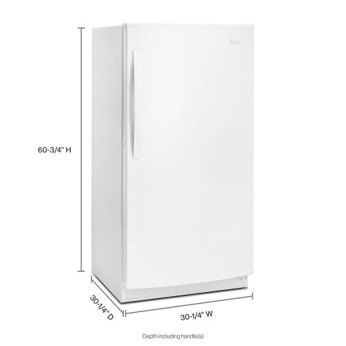 Whirlpool Canada - Whirlpool® 16 cu. ft. Upright Freezer with Frost-Free Defrost