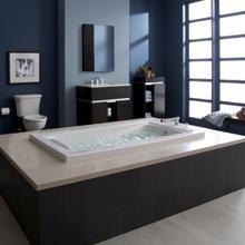 Green Tea 60x42 inch EcoSilent Combo Massage System  American Standard - White