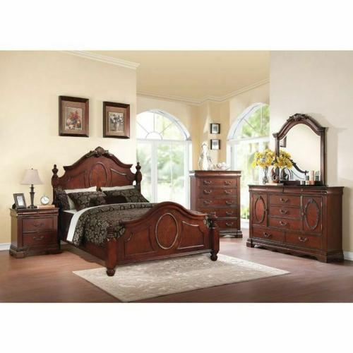ACME Estrella Queen Bed - 21730Q - Dark Cherry