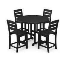 View Product - Lakeside 5-Piece Round Counter Side Chair Set in Black
