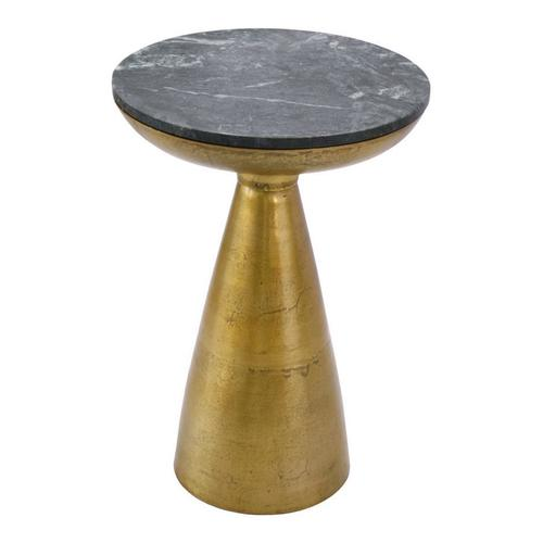 Font Side Table Green Marble