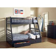 Ashton Navy Twin-over-full Bunk Bed