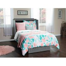 See Details - Nantucket Twin Murphy Bed Chest in Atlantic Grey with Charging Station