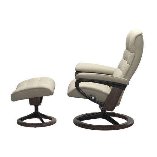 Stressless By Ekornes - Stressless® Opal (L) Signature chair with footstool