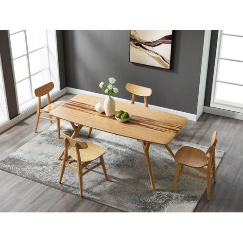 Greenington Fine Bamboo Furniture - Azara Dining Table, Caramelized