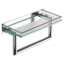 "Polished Chrome 12"" Shelf with Towel Bar"