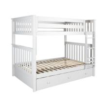 See Details - Full/Full Bunk + Trundle Storage White