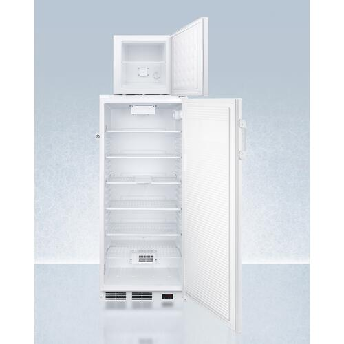 Ffar10pro 10.1 CU.FT. Auto Defrost All-refrigerator With Digital Controls and Compact Manual Defrost Fs24lpro All-freezer With Stacking Rack, Both With Factory-installed Probe Holes