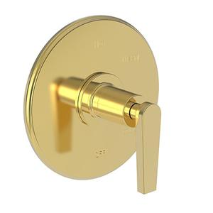 Polished Gold - PVD Balanced Pressure Shower Trim Plate with Handle. Less showerhead, arm and flange.