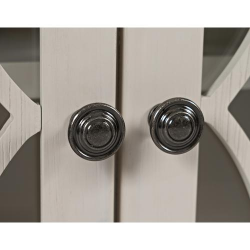 Aurora Hills 2 Door Accent Chest White/bisque