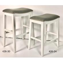 """24"""" White Gray Seat"""