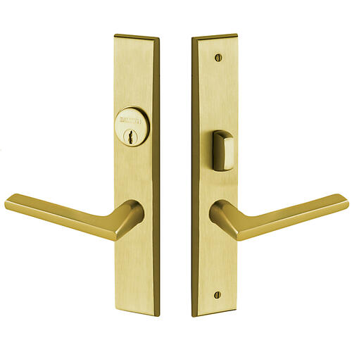 Lifetime Satin Brass Lakeshore Escutcheon Entrance Set
