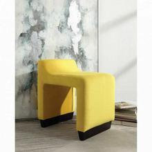 ACME Alford Ottoman - 59894 - Contemporary - Flannel, Frame: Wood (Hardwood, Poplar, Ply), Foam (28D) - Yellow Flannel