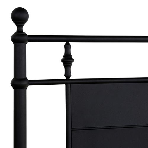 Barton King Headboard With Frame, Textured Black