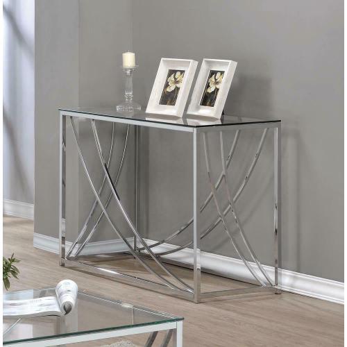 Product Image - Contemporary Chrome Sofa Table