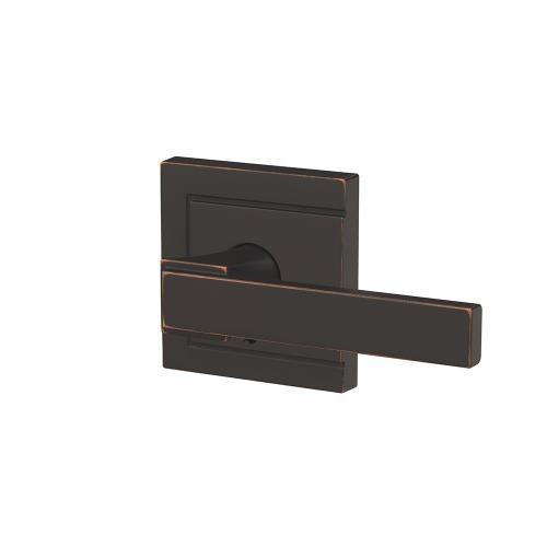 Custom Northbrook Non-Turning Lever with Upland Trim - Aged Bronze