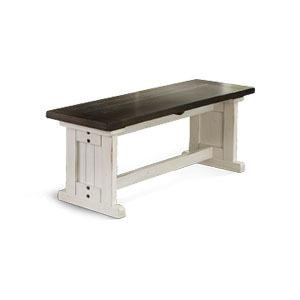 Sunny Designs - Carriage House Side Bench w/ Wood Seat