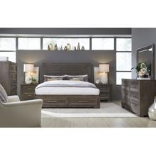 Facets Panel Bed w/ Storage Footboard, CA King 6/0