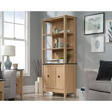 3-Shelf Double Door Bookcase