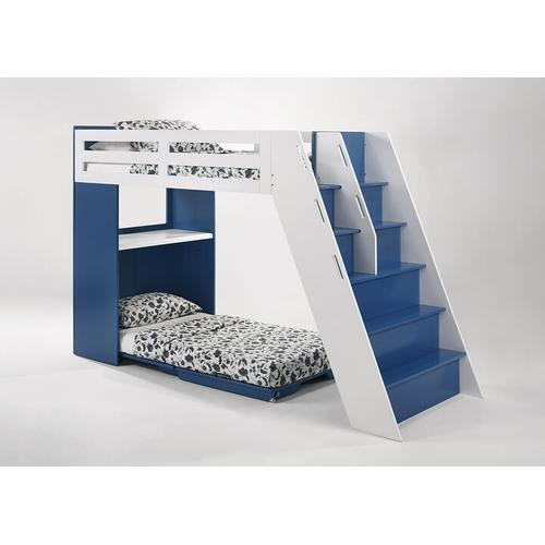 Night and Day Furniture - Galaxy Loft Bunk in Panels/Steps in Black