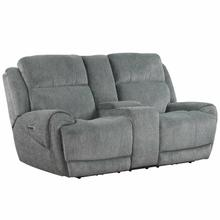 See Details - SPENCER - TIDE GRAPHITE Power Console Loveseat