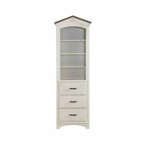ACME Tree House Bookcase - 37168 - Weathered White & Washed Gray