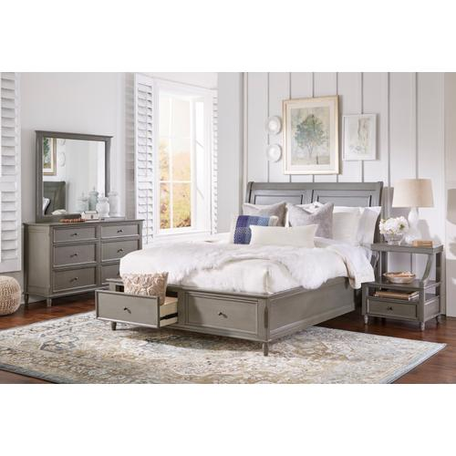 Avignon Grey Full Storage Footboard