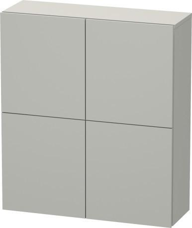Semi-tall Cabinet, Concrete Gray Matte (decor)