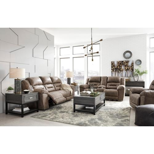Stoneland Reclining Power Sofa Fossil