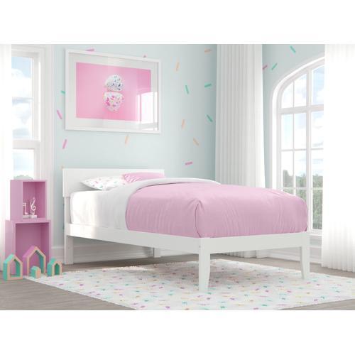 Atlantic Furniture - Boston Twin Bed in White