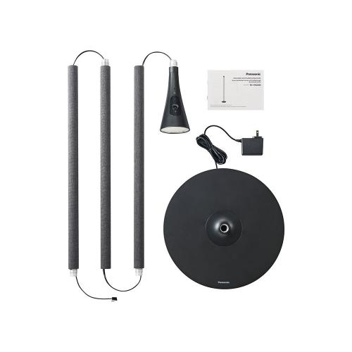 HomeHawk FLOOR Smart Home Monitoring System with Ambient Light (Black with Gray Fabric)