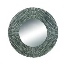 "METAL WALL MIRROR 37""D"