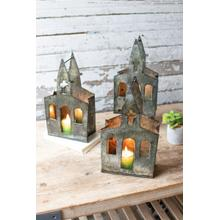 See Details - recycled metal church luminary