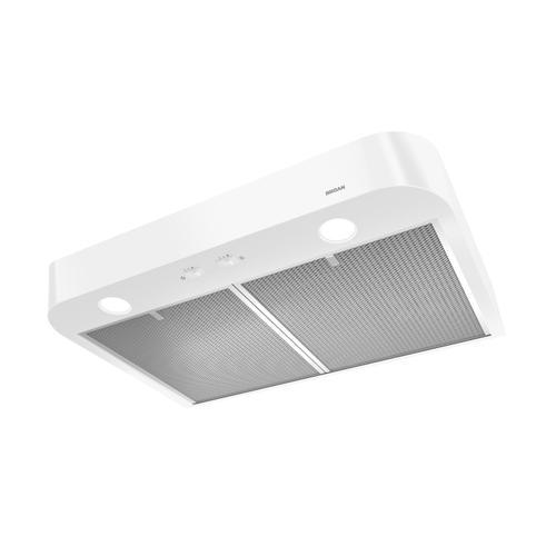 Broan - Broan® 30-Inch Convertible Under-Cabinet Range Hood, White