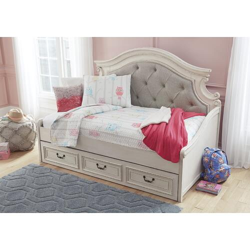 Realyn Twin Day Bed Chipped White