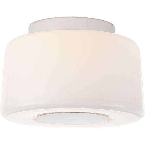 Barbara Barry Acme 3 Light 9 inch Polished Nickel Flush Mount Ceiling Light, Small