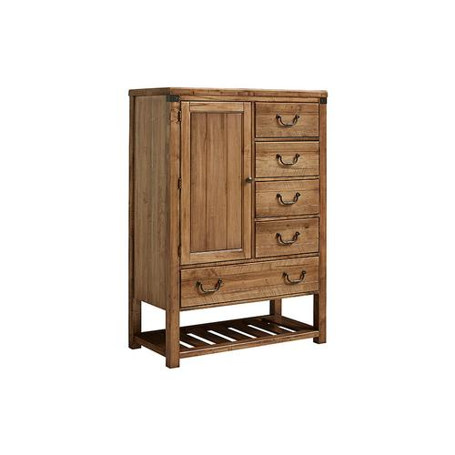 Artisan & Post Solid Wood - Standing Chest - 5 Drawers and 1 Door