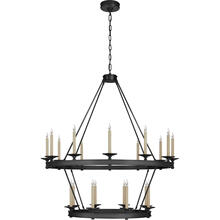 View Product - Chapman & Myers Launceton 20 Light 43 inch Bronze Two Tiered Chandelier Ceiling Light, Large