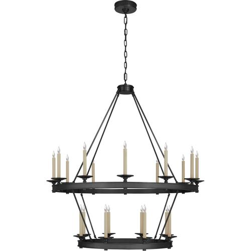 Visual Comfort - Chapman & Myers Launceton 20 Light 43 inch Bronze Two Tiered Chandelier Ceiling Light, Large