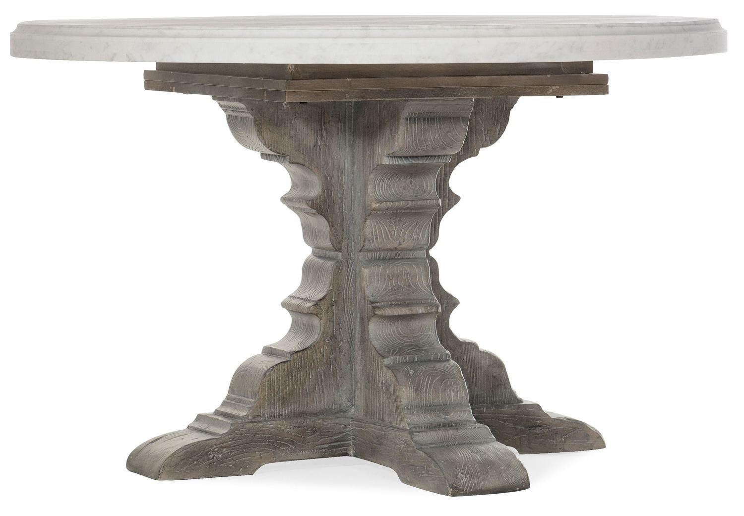 Hooker FurnitureBeaumont Round Dining Table With 48in Marble Top
