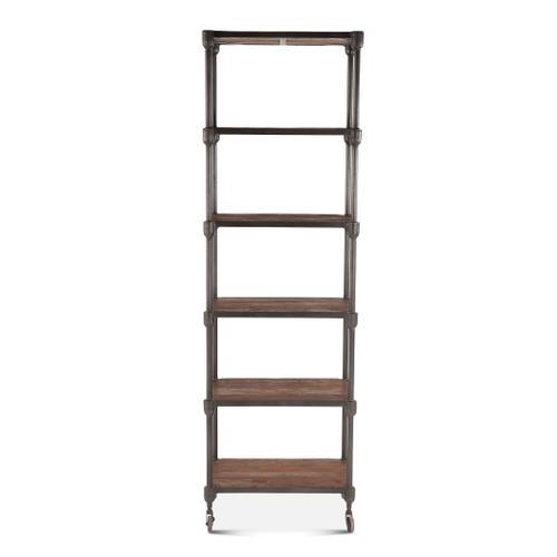 "Industrial Teak 25"" Wide Bookshelf"