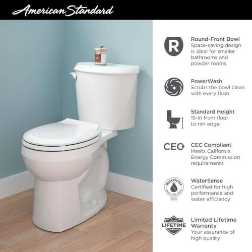 American Standard - Reliant Round Front Toilet  American Standard - White
