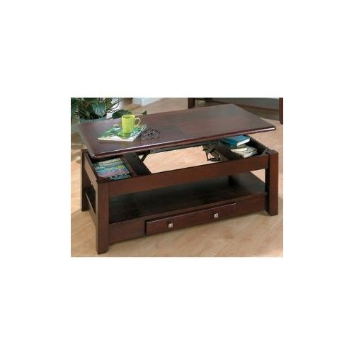 Lift-top Cocktail Table W/ 2 Drawers and Casters