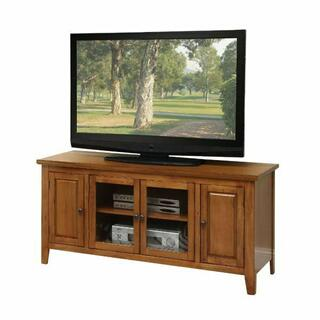 ACME Christella TV Stand - 10342 - Oak for Flat Screens TVs up to 60""