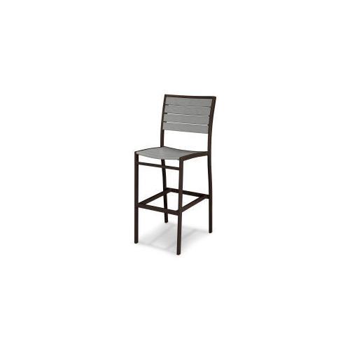 Polywood Furnishings - Eurou2122 Bar Side Chair in Textured Bronze / Slate Grey